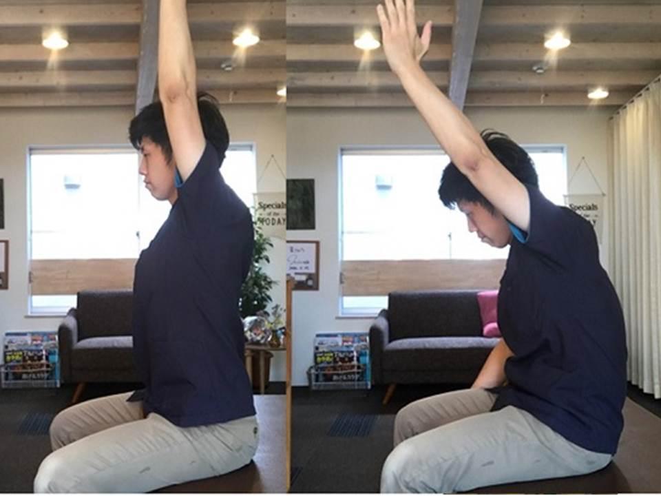 姿勢による肩の上がり方