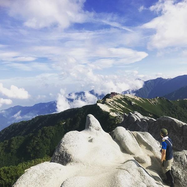 燕岳山頂2