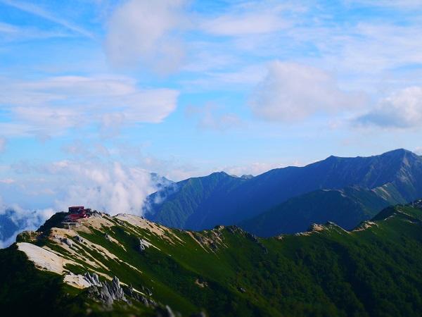 燕岳山頂4