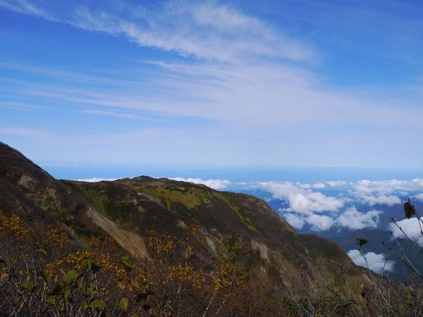 雲海の向こうは日本海ですよ