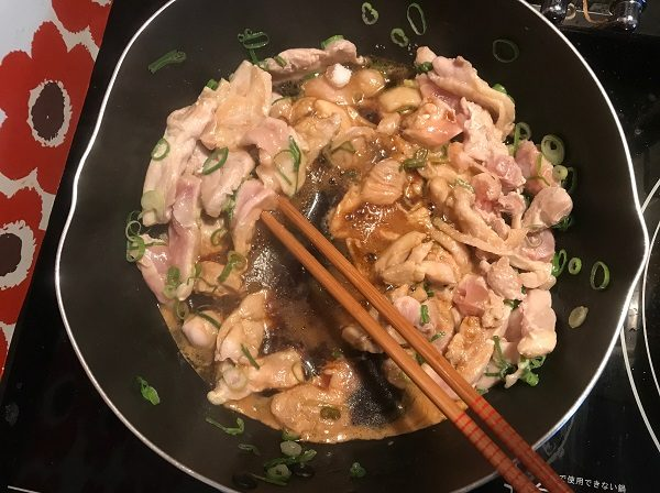鶏肉調理過程2|岡崎市