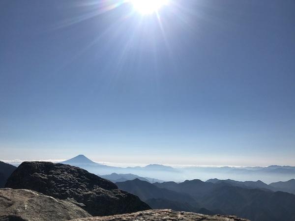富士山が一望