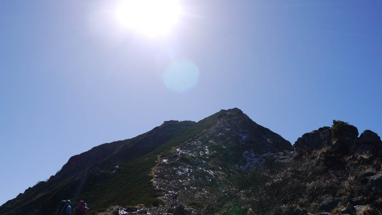 赤岳シルエット