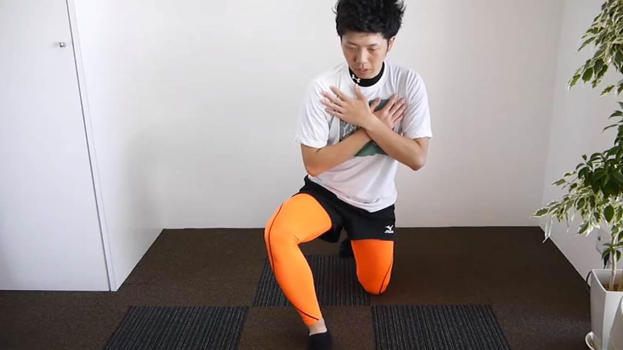 前足部足首柔軟エクササイズ