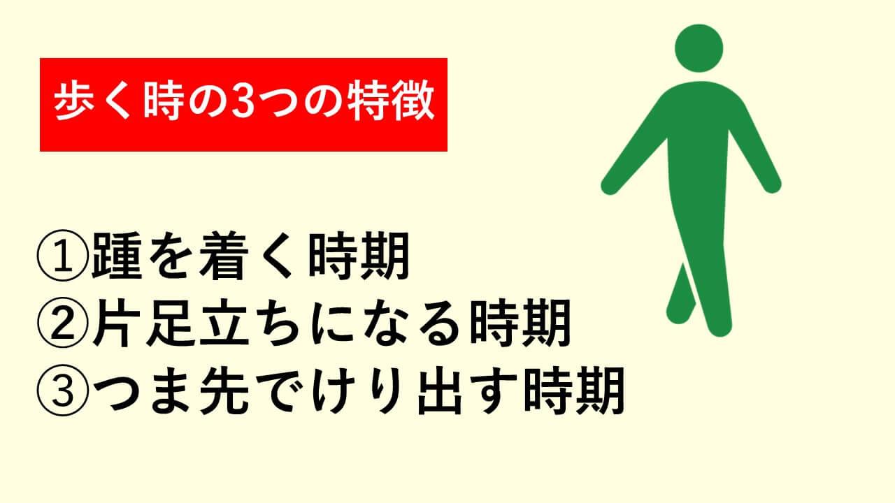 歩く時の3つの特徴