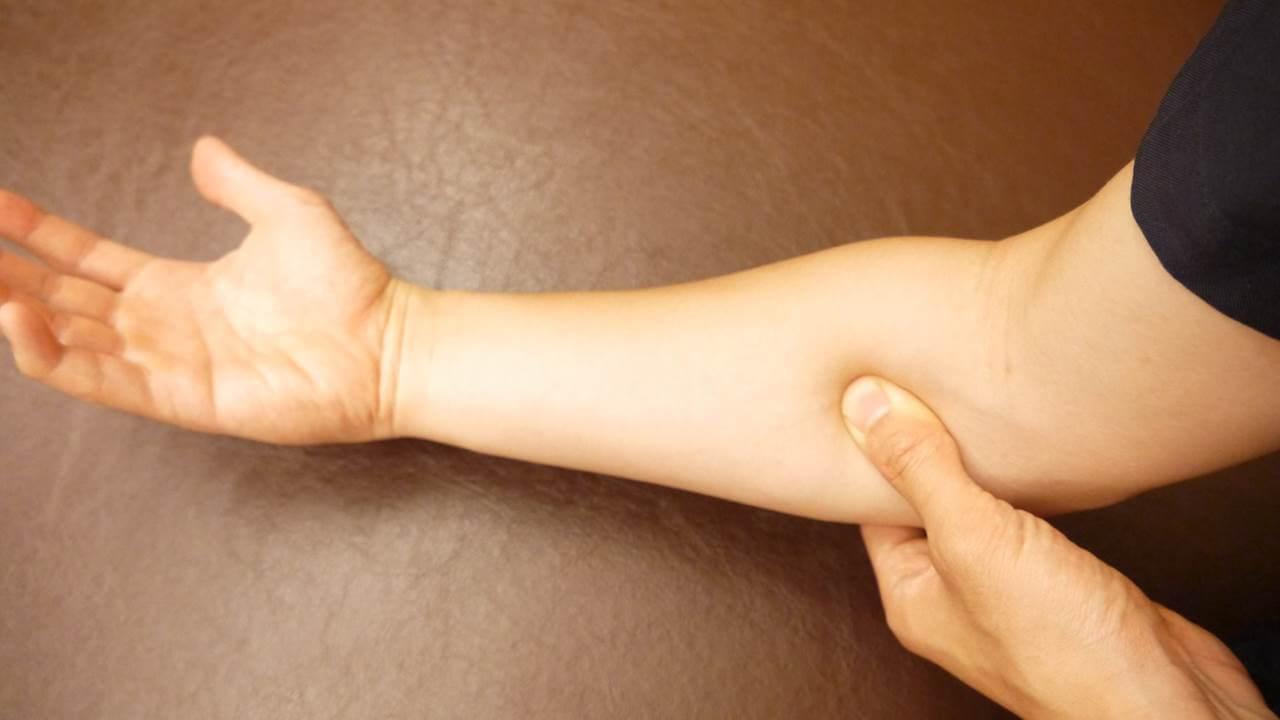 腕の内側を押す
