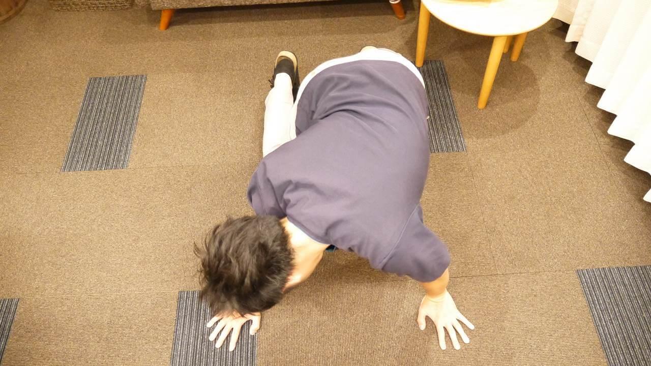 四つ這い側屈体操