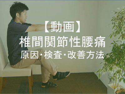【動画】椎間関節性腰痛アイキャッチ