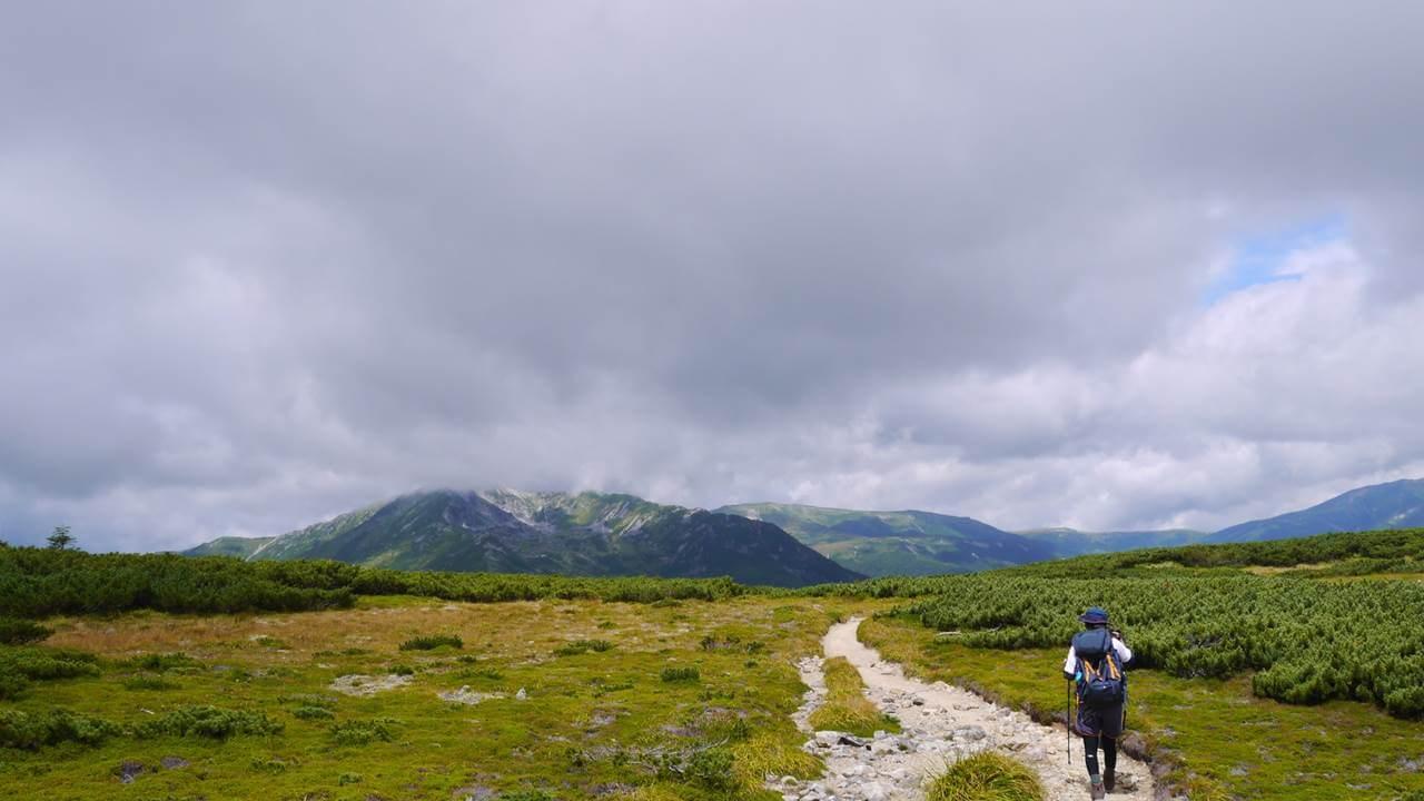 三俣蓮華岳へ