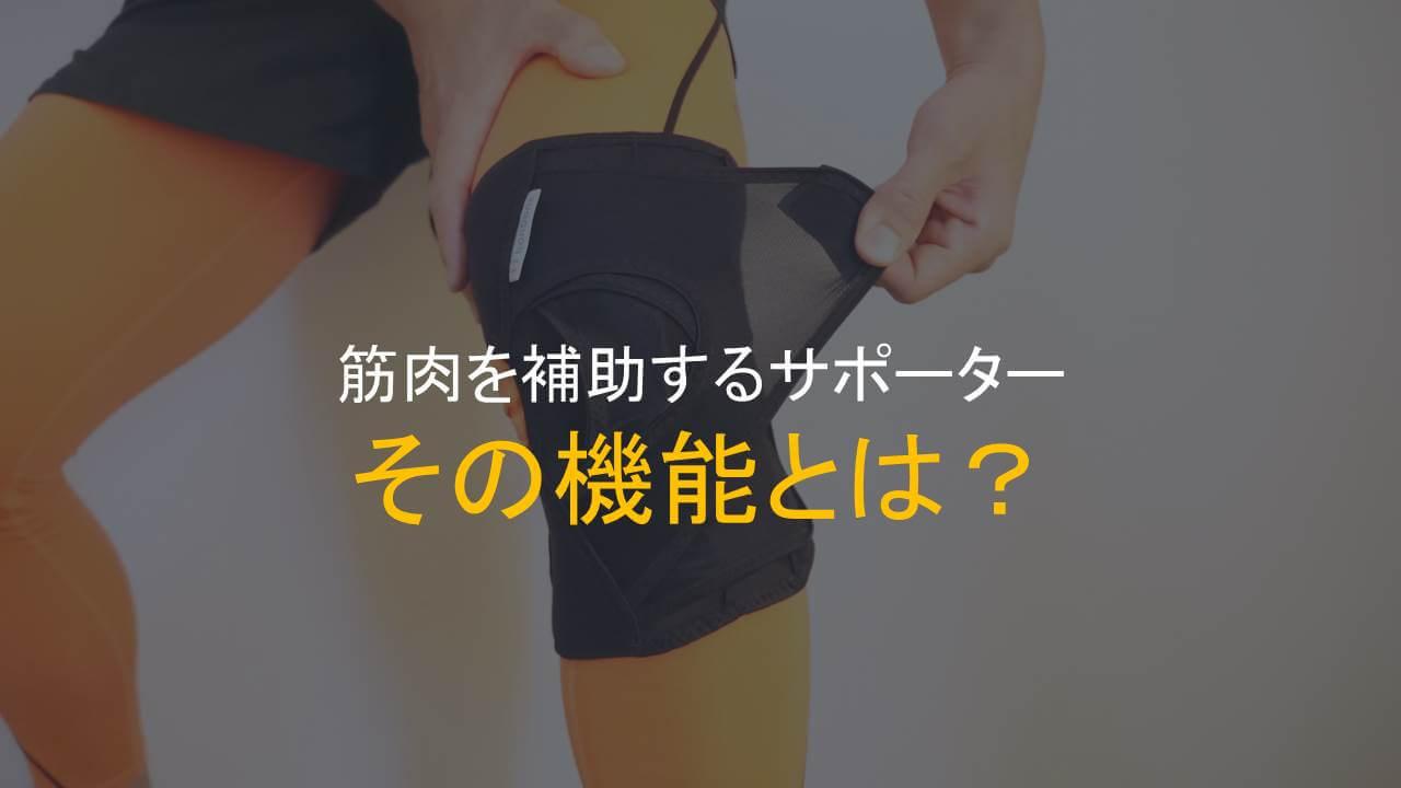 筋肉を補助するサポーターの機能アイキャッチ