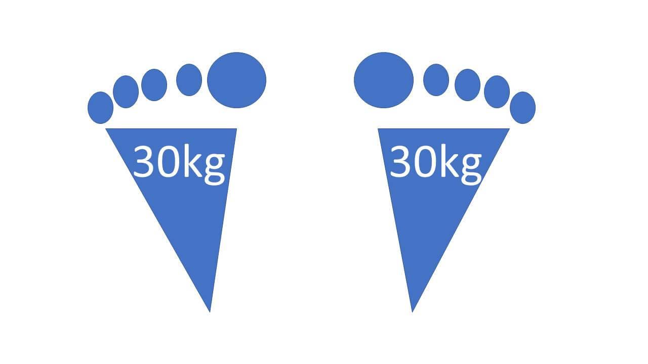 体重の分散