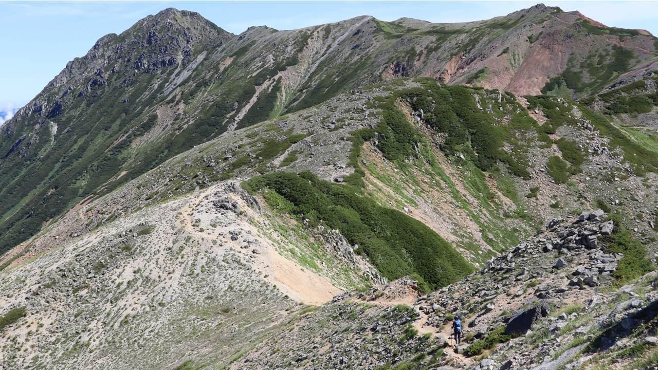 水晶岳への道