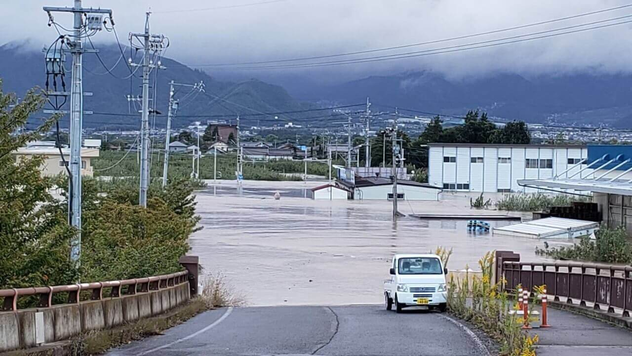 用水路の氾濫